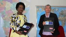 Ann Encontre, Représentante Régionale du HCR en RDC et Nicole Fisher, Cheffe de Coopération a.i. à la Délégation de l'Union européenne
