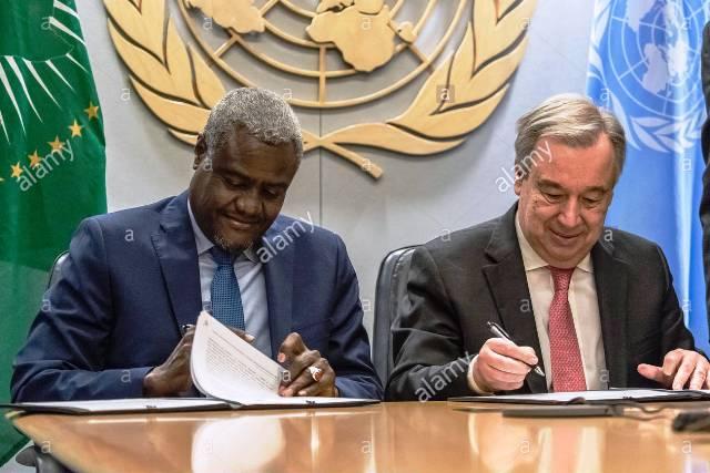 Antonio Guterres et Moussa Faki
