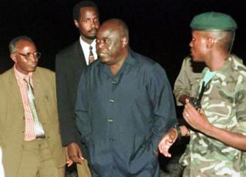 Arrivée de Laurent Désiré Kabila à l'aéroport international de N'Djili (Kinshasa)