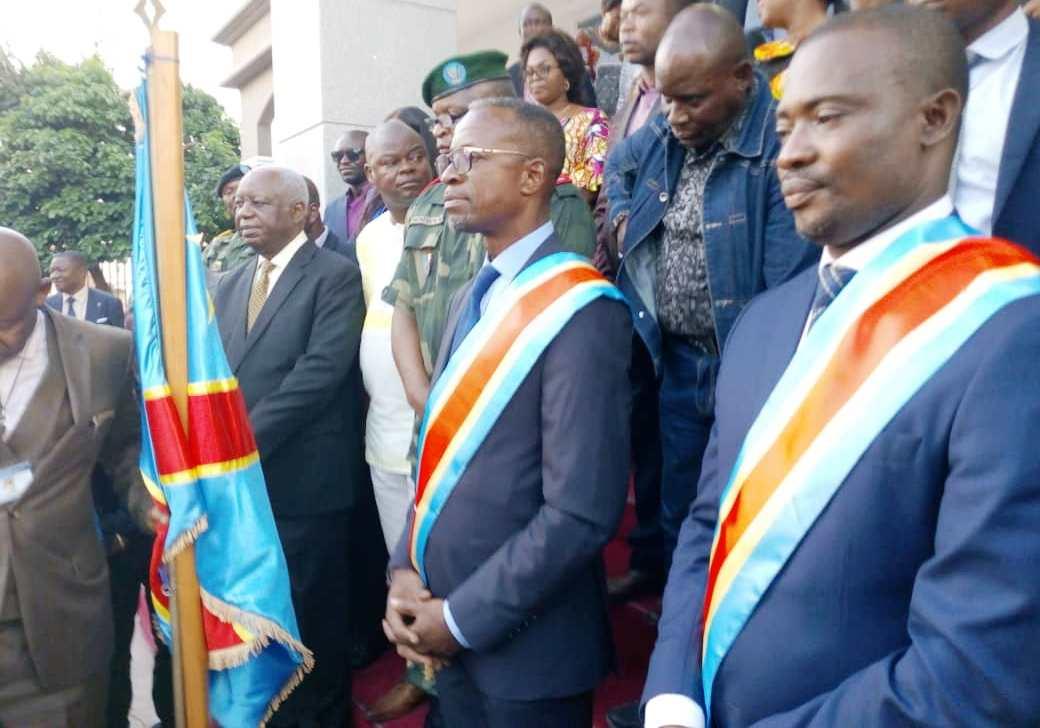 Atou Matubuena et Le vice-gouverneur Justin Luemba