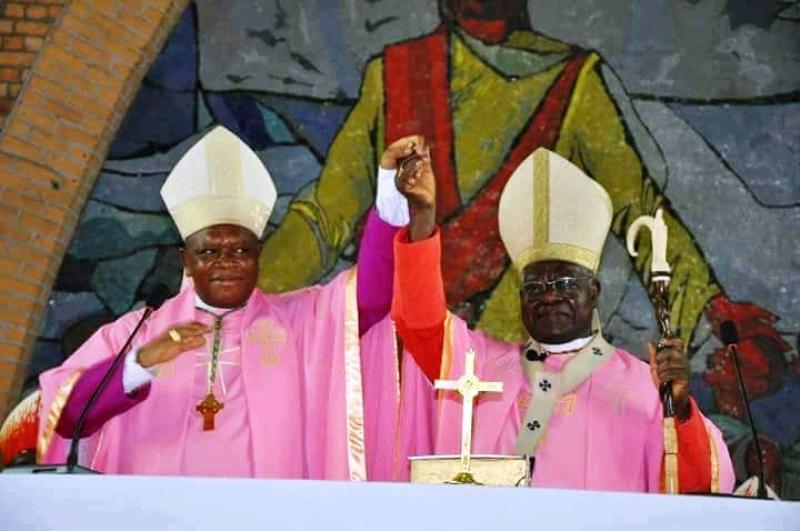 Cardinal Laurent Monsengwo et l'Archevêque Fridolin Ambongo