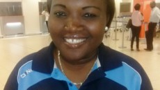 Coach des Léopards dames Sandra Makombele