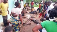 Des rescapés de Yumbi dans un camp des réfugiés improvisé