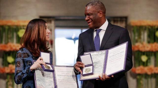 Dr Denis Mukwege et à l'irakienne Yezedie Nadia Murad