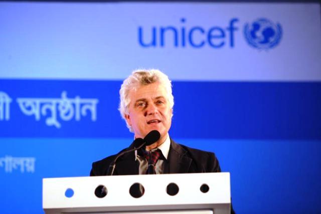 Edouard Beigbeder nouveau representant de Unicef