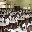 Elèves de Collège Boboto à Kinshasa, lors d'un séminaire sur la CPI.