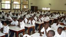 Elèves de Collège Boboto à Kinshasa, lors d'un séminaire sur la CPI.
