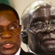Emmerson Mnangagwa et Robert Mugabe