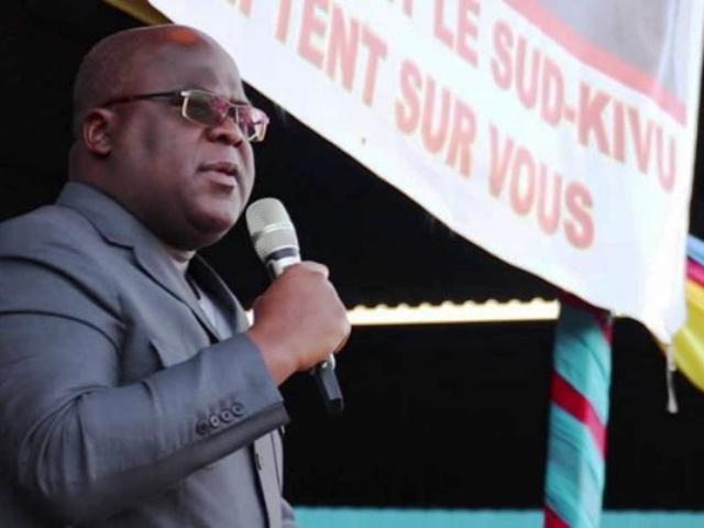 Félix Antoine Tshisekedi Tshilombo Au terme d'un meeting à Bukavu photo prise par Erick ks