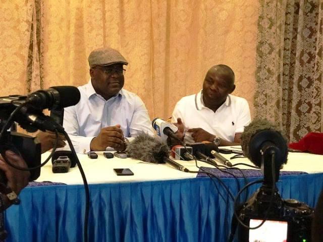 Félix Tshisekedi et Vital Kamerhe à Goma face à la presse