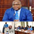 F. Tshisekedi devant les résponsable des institutions