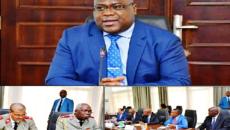 F. Tshisekedi devant les résponsable des institutions