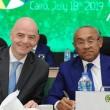 Gianno Infantino, président de la Fifa et Ahmad Ahmad, président de la Caf