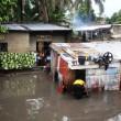 Des maisons inondées après une pluie à Kinshasa, ce 03/04/2011. Radio Okapi/ Ph. John Bompengo