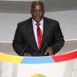 Le président Joseph Kabila le 13/10/2012 au palais du peuple à Kinshasa, lors de l'ouverture du 14ème sommet de la francophonie. Radio Okapi/ Ph. John Bompengo