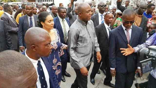 Kinshasa Bopeto Gentiny Ngobila en visite