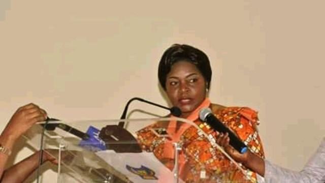 La ministre d'Etat en charge du Genre Famille et Enfant, Béatrice Lomeya