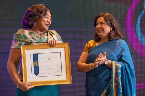 La première dame nommée « Championne de la prévention de la violence sexuelle liée aux conflits
