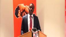Le Dg de l'UBA, Marcel Bitang, annonçant le lancement de Leo