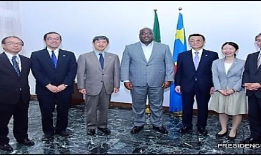 Le Président de la RDC et la délégation de la JICA