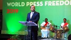 Le Premier ministre éthiopien Abiy Ahmed lors de la Journée mondiale de la liberté de la presse 2019 à Addis-Abeba photo prise par Erick Ks
