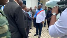 Le chef de l'Etat à son arrivée à Kalehe ce jeudi en provenance de Goma