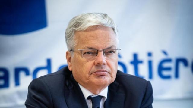 Le ministre belge des Affaires étrangères et européennes ainsi que de la Défense, Didier Reynders. Belga image