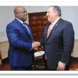Le président Félix Tshisekedi et le Secrétaire d'Etat Mike Pompeo