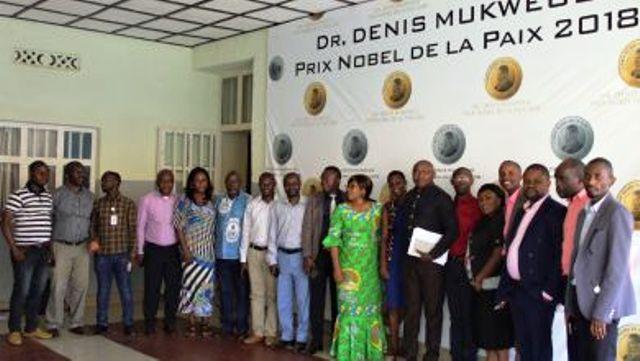 Le staff de la Fondation Panzi