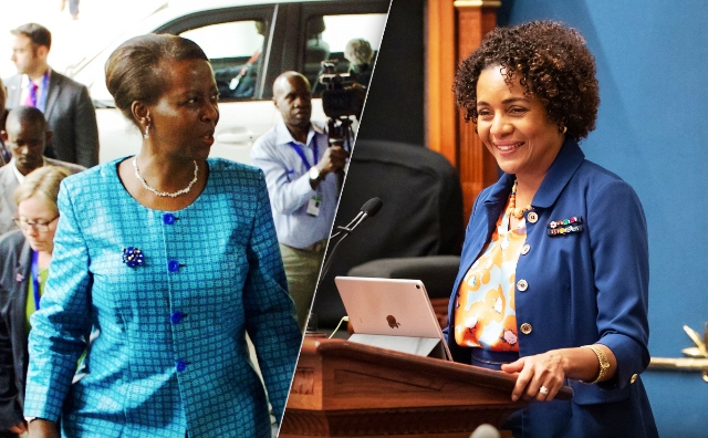 Michaëlle Jean et Louise Mushikiwabo oif