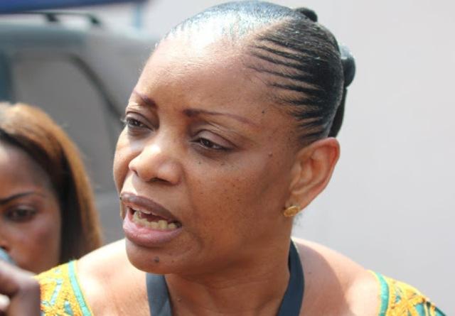 Mme Eva Bazaiba, secrétaire général du MLC, lors de travaux du dialogue national inclusif à Kinshasa, le 15/12/2016. Radio Okapi/Ph. John Bompengo.