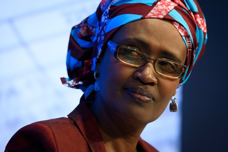 Winnie Byanyima, Executive Director of Oxfam International, attends the 47th annual meeting of the World Economic Forum, WEF, in Davos, Switzerland, Thursday, Jan. 19, 2017. (Gian Ehrenzeller/Keystone via AP)