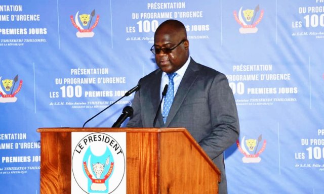 Président Félix Antoine Tshisekedi Tshilombo