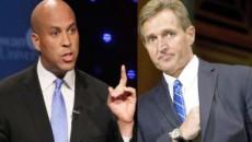 Sénateurs Cory Booker et Jeef Flake