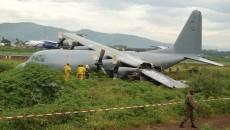Un avion militaire sud-africain rate son atterrissage à Goma aucune perte en vie humaine