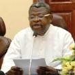 Abbé Donatien Nshole, premier secrétaire général adjoint de la Commission Episcopale Nationale du Congo (CENCO) le 4/03/2013 à Kinshasa, lors d'un point de presse. Radio Okapi/Ph. John Bompengo
