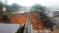 dégâts matériels causer par la pluie à kin
