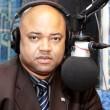 Charles Nawej Mundele, Ministre congolais  des Affaires sociales, actions humanitaires et solidarité nationale le 16/04/2013 au studio de Radio Okapi à Kinshasa/ Ph. John Bompengo