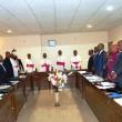 Au centre des évêques de la CENCO et des politiciens congolais à Kinshasa, le 12/01/2017 lors des discutions sur les arrangements particuliers de l'accord politique du 31 décembre 2016. Radio Okapi/ Ph. John Bompengo