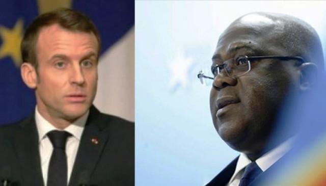 félix Tshisekedi et Emmanuel Macron au kenya naïrobi