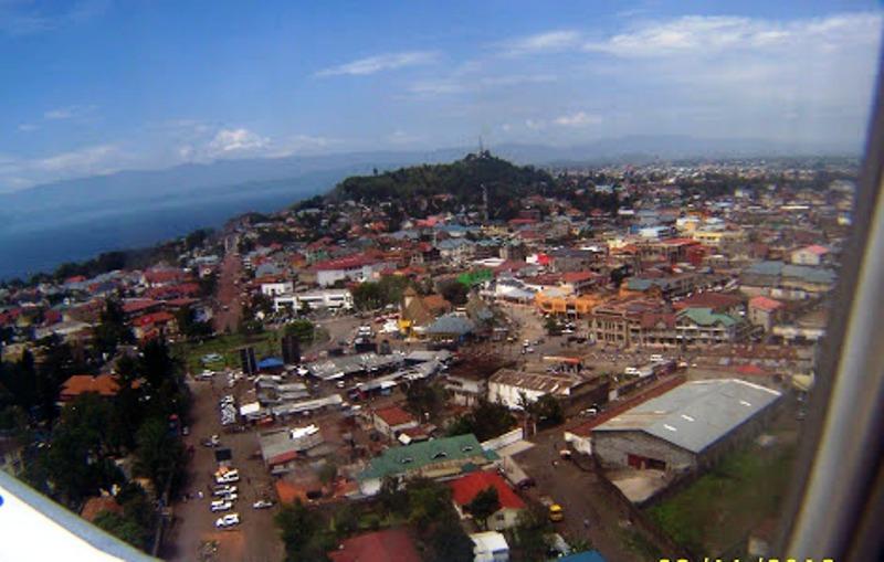 Vue aérienne de la ville de Goma (Nord-Kivu) le 10 novembre 2016. Ph. Radio Okapi/Freddy Lufulwabo