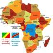 la carte d'afrique