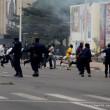 La police disperse les manifestants le 1/9/2011 à Kinshasa, lors d'une marche des opposants. Radio Okapi/ Ph. John Bompengo