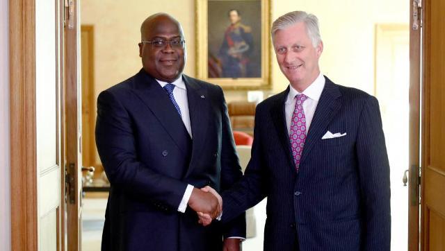 président congolais, Félix Tshisekedi, avec le roi des Belges,