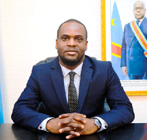 vice ministre des Finances Junior Mata M'Elanga photo prise par Erick Ks
